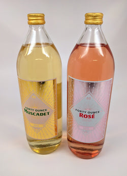 Forty Ounce Rose ALERT Hide Yo Kids, Hide Yo Wife. We got these as a 2 pack: Forty Ounce Rose Vin de France & Forty Ounce Muscadet Maine 2 Pack
