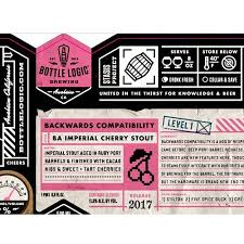 Bottle Logic Brewing Backwards Compatibility BA Imperial Cherry Stout 500ml 2017 LIMIT 1 READ INFO