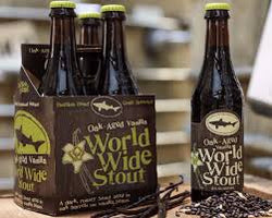 DOGFISH HEAD OAK-AGED VANILLA WORLD WIDE STOUT 12oz NO LIMIT 18.50% so hide yo kids, hide yo wife