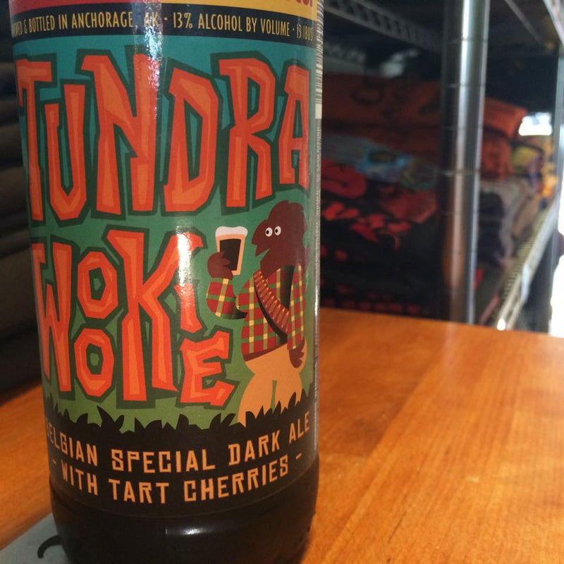 Midnight Sun Brewing, Tundra Wookie 22oz Lamnic with cherries