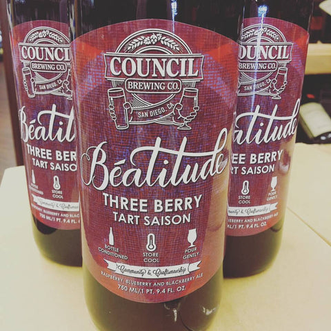 Council Beatitude Three Berry Tart Saison 750ml