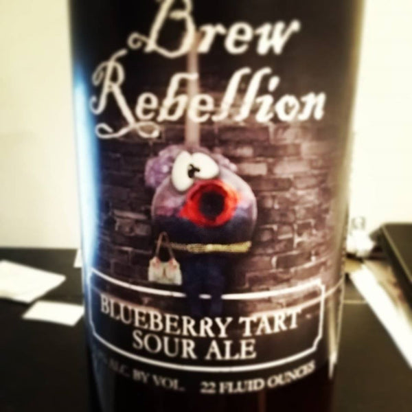 Brew Rebellion Blueberry Tart Sour Ale 22oz