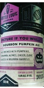 Bottle Logic Brewing Picture if You Will 500ml LIMIT 1 Bourbon Pumpkin Ale