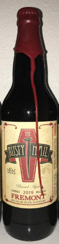 FREMONT BREWING 2019 THE RUSTY NAIL BARREL AGED IMPERIAL OATMEAL STOUT 16.6oz (LIMIT 1 PER PURCHASE)