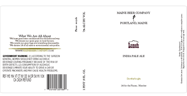 Maine Beer Company Lunch IPA 500ML