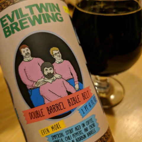 EVIL TWIN Collab with PRIAIRE DOUBLE BARREL BIBLE BELT 22OZ