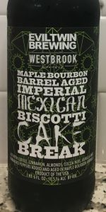 Evil Twin Brewing Maple Bourbon BA Imp Mexican Biscotti Cake Break 22oz LIMIT 1