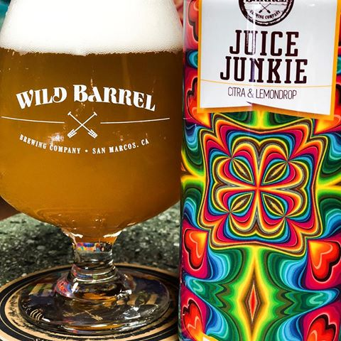 Wild Barrel Brewing Juice Junkie 16oz cans