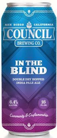 COUNCIL BREWING CO. IN THE BLIND DOUBLE DRY HOPPED IPA 16oz can