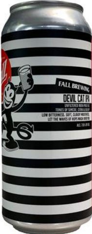FALL BREWING DEVIL CAT UNFILTERED IPA 16oz can
