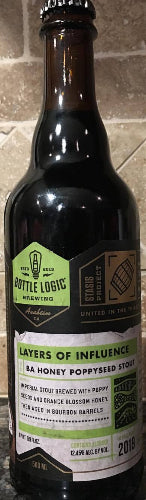 BOTTLE LOGIC BREWING 2019 LAYERS OF INFLUENCE BA HONEY POPPYSEED STOUT 500ml (LIMIT 1 PER PURCHASE)