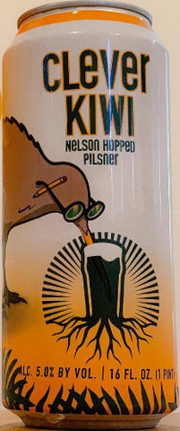 BURGEON BEER CO. CLEVER KIWI NELSON HOPPED PILSNER 16oz can