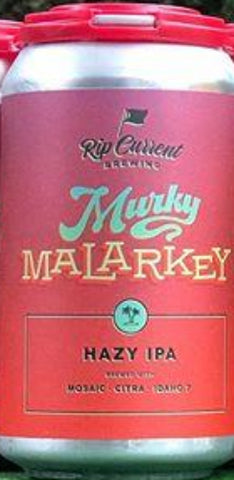 RIP CURRENT BREWING MURKY MALARKEY HAZY IPA 12oz can