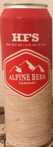 ALPINE BEER CO. HFS IPA 19.2oz can