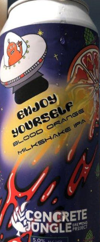 CONCRETE JUNGLE BREWING PROJECT ENJOY YOURSELF BLOOD ORANGE MILKSHAKE IPA 16oz can