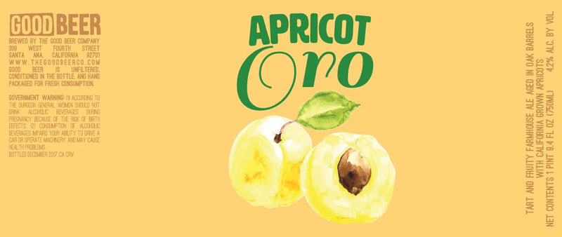 Good Beer Co. Apricot Oro 750ml
