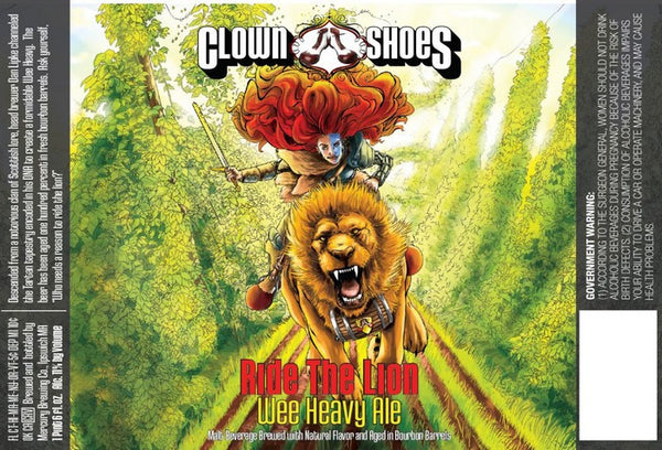 Clown Shoes Ride the Lion Bourbon Barrel Aged Wee Heavy