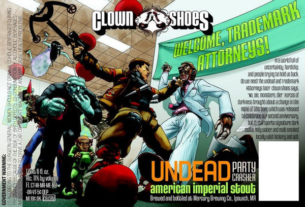 Clown Shoes Undead Party Crasher Smoked Imperial Stout 22oz