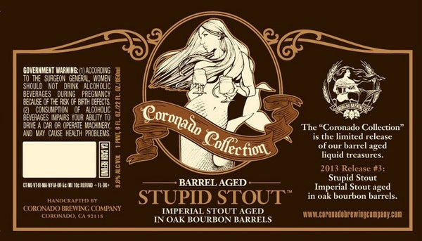 Coronado Bourbon Barrel-Aged Stupid Stout 12oz