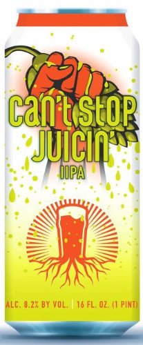BURGEON BEER CO. CAN'T STOP JUICIN' DOUBLE IPA 16oz can