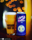 Burgeon Beer collab Artifex Brewing Company Hop Swingers 16oz cans