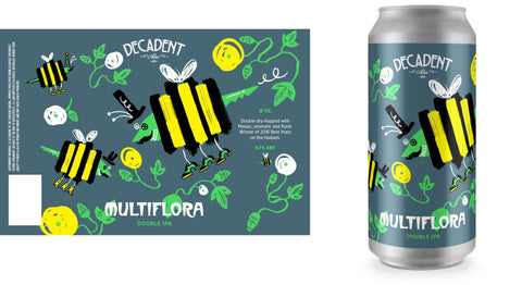 Decadent Ales Muliflora American double/ Imperial IPA 16oz CAN LIMIT 1