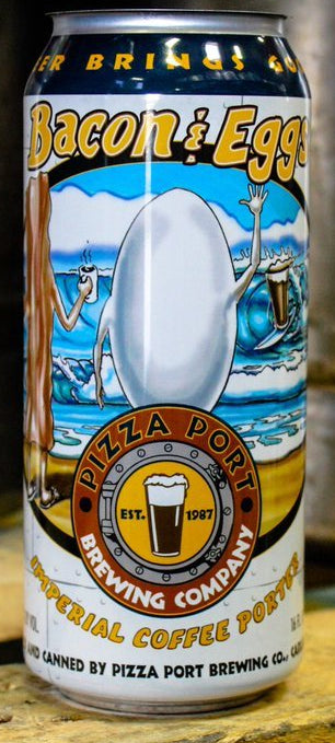 PIZZA PORT BREWING BACON & EGGS IMPERIAL COFFEE PORTER 16oz can