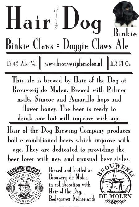 De Molen Binkie hair of the dog 12oz