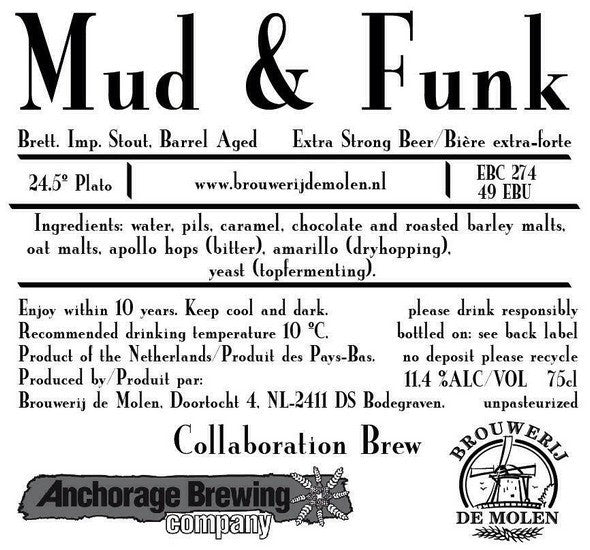De Molen Anchorage Mud & Funk Brett Imperial Stout 12oz