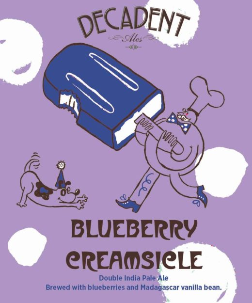 Decadent Ales Blueberry Creamsicle Double IPA 16oz CAN LIMIT 3