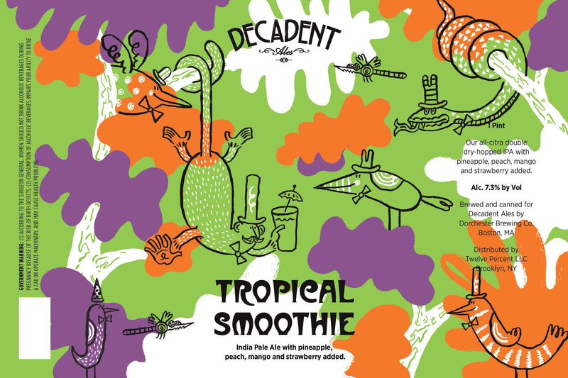 Decadent Ales Tropical Smoothie IPA 16oz cans