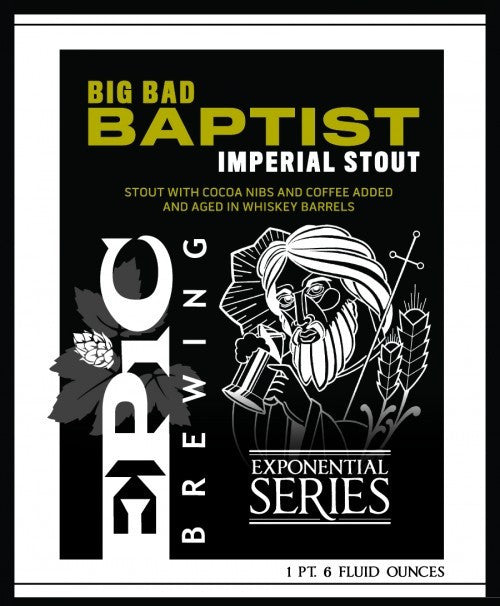 Epic Big Bad Baptist Imperial Stout
