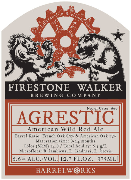 Firestone Agrestic BARREL WORKS Wild Ale LIMIT 1 2016