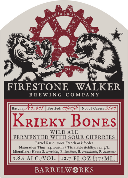 FIRESTONE WALKER BARRELWORKS KRIEKY BONES 375ML LIMIT 1