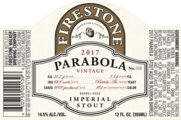 Firestone Walker Parabola Barrel Aged Imperial Stout 2017 READ INFO LIMIT 1