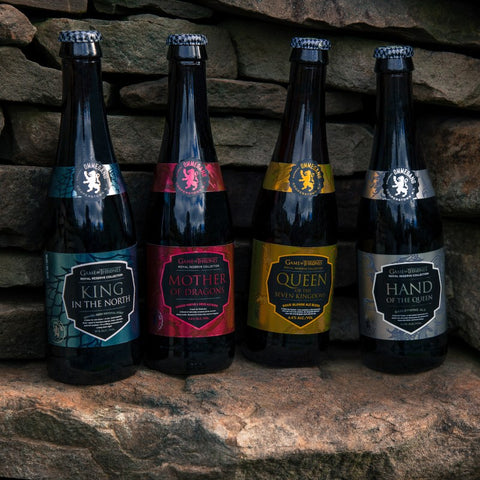 Ommegang Game of Thrones 4 PACK with 1 glassware LIMIT 1 per person ROYAL RESERVE COLLECTION