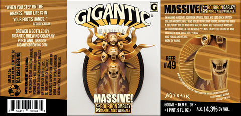 Gigantic Brewing Company Bourbon MASSIVE! Bourbon Barrel Aged Barley