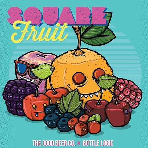 GOOD BEER COMPANY Square Fruit Bottle Logic Collab 750ML Limit 1