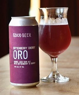 GOOD BEER COMPANY BOYSENBERRY CHERRY ORO 16OZ CAN