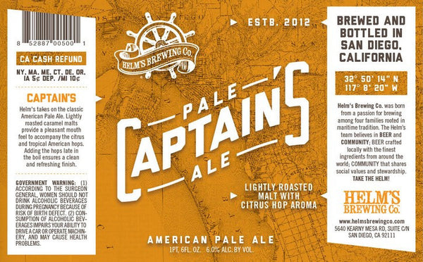Helm's Captain's Pale Ale