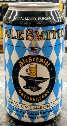 ALESMITH BREWING CO. ALESCHMIDT OKTOBERFEST MÄRZEN LAGER 12oz can
