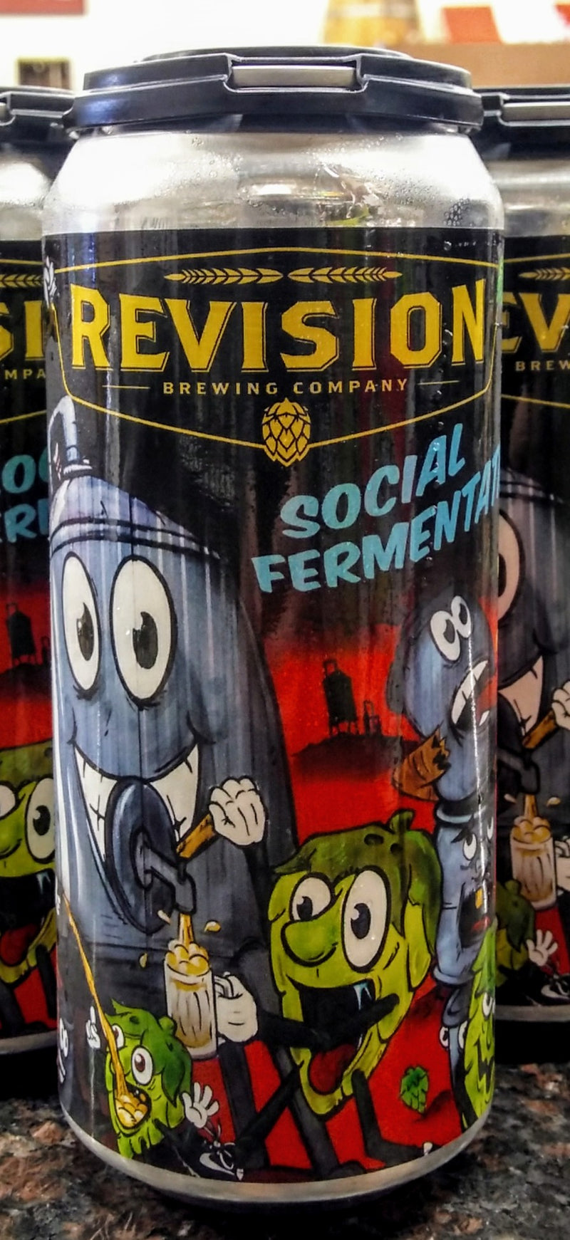 REVISION BREWING CO. SOCIAL FERMENTATION NE HAZY IPA 16oz can