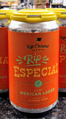 RIP CURRENT BREWING RIP ESPECIAL LIGHT MEXICAN LAGER 12oz can