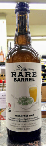 RARE BARREL BREAKFAST TIME DRY HOPPED GOLDEN SOUR BEER 750ml ( LIMIT 1 PER CUSTOMER)