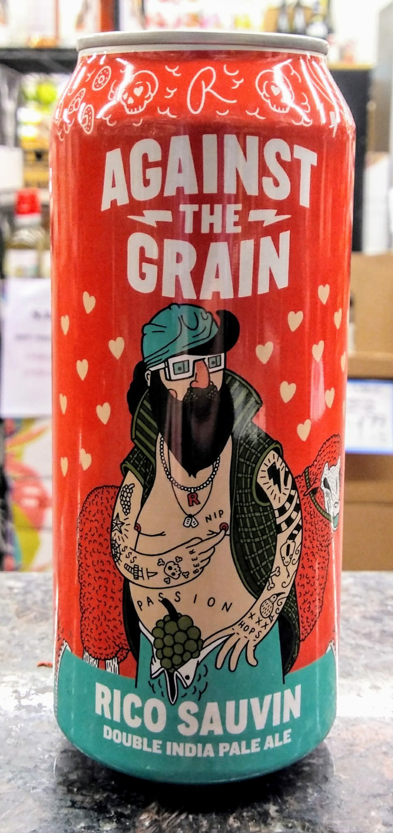 AGAINST THE GRAIN BREWERY RICO SAUVIN DOUBLE IPA 16oz can