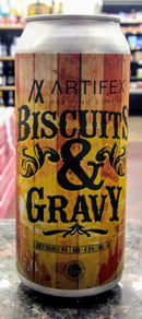 ARTIFEX BREWING CO. BISCUITS and GRAVY JUICY DOUBLE IPA 16oz can