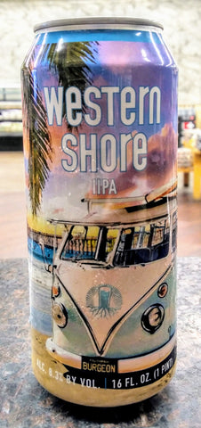 BURGEON BEER CO. WESTERN SHORE DOUBLE IPA 16oz can