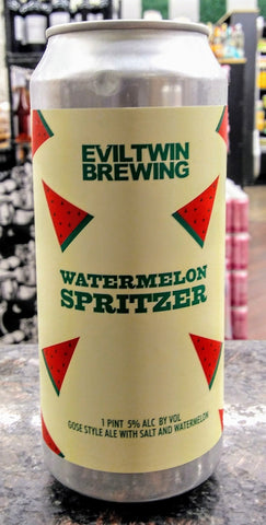 EVIL TWIN BREWING WATERMELON SPRITZER GOSE ALE 16oz can