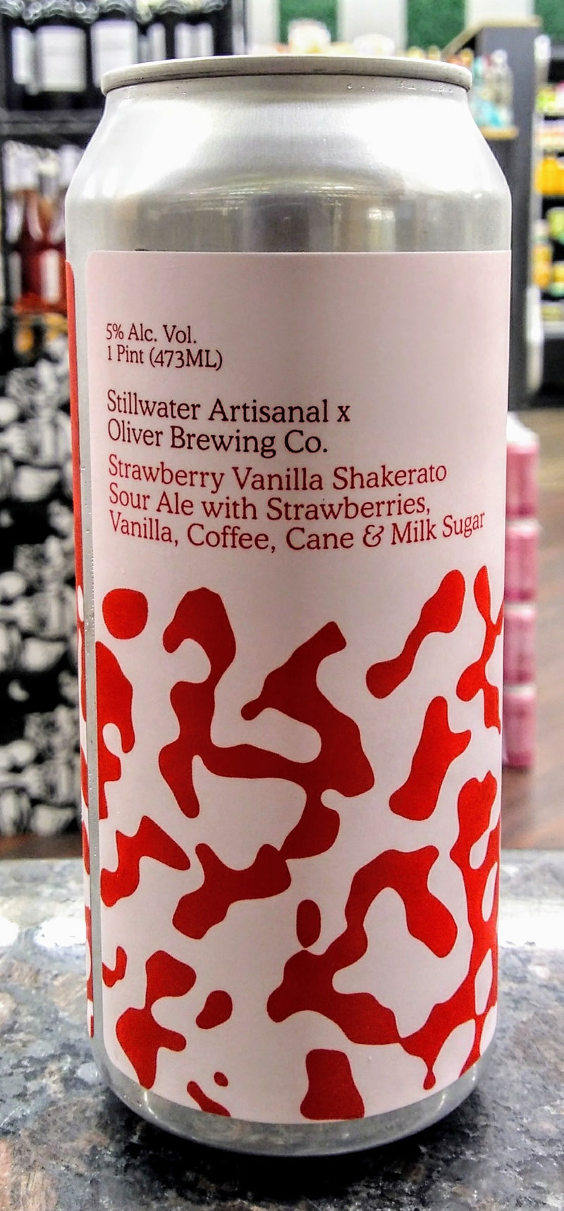 STILLWATER ARTISANAL STRAWBERRY VANILLA SHAKERATO SOUR ALE 16oz can
