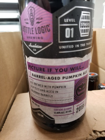 Bottle Logic picture if you will Barrel Aged Pumpkin Ale 500ml LIMIT 1